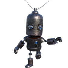 Robot with antenna
